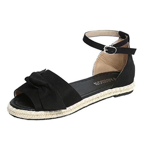 Zapatillas WINWINTOM Sólido Rebaño Plano Moda y Sandalias Casa Mujer Toe Chancletas Chanclas Peep Casual Negro de Sandalias Aldaba Estar Moda Color Arco Mujeres por Talón ZqwFOwYX