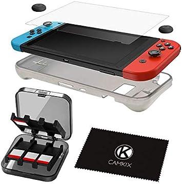 CamKix Juego Nintendo Switch 5 en 1: Funda de silicona TPU ...