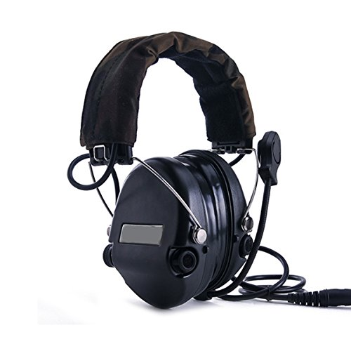 Electronic Earmuff Sport Hearing Protector for Hunting & Shooting, Black by TOENNESEN