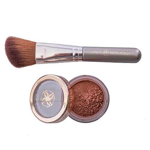 ONLY MINERALS - Loose Powder Bronzer with Bronzer Brush, 100% Natural Minerals, Perfect Contour and Highlight, 0.8 ounces