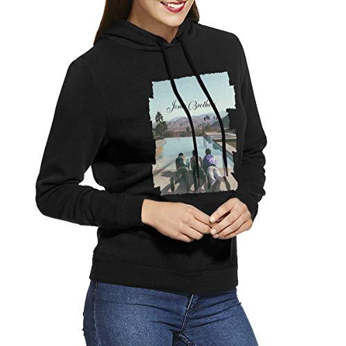 (RVFGE Jonas Brothers Happinees Begins Women's No Pocket Hooded Sweatshirt Black M)