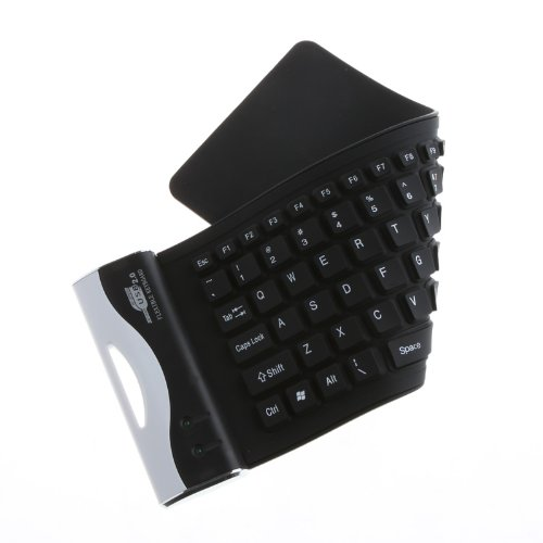Kingzer 79K Waterproof Silicone Flexible Mini Keyboard For Laptop PC Black from KINGZER