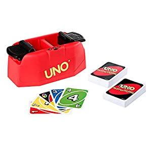 UNO Showdown Quick Draw Family Card Game with 112 Cards & UNO Showdown Unit for Ages 7 Years Old & Up, Gift for Kid, Family or Adult Game Night