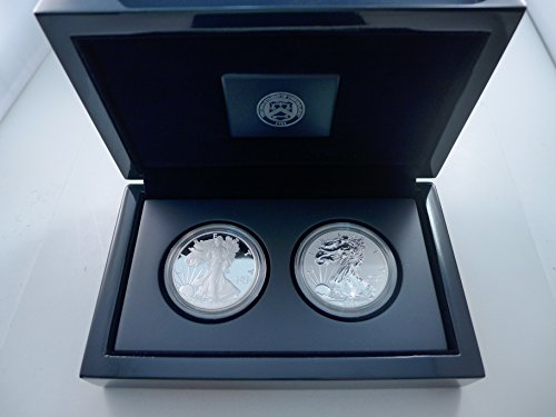 (2012 S Silver Eagle Two Coin Sanfrancisco mint Reverse Proof Set )