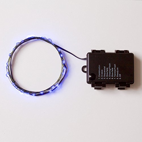 Rtgs Micro LED 30 Super Bright Blue Color Indoor and Outdoor String Lights Battery Operated on ...