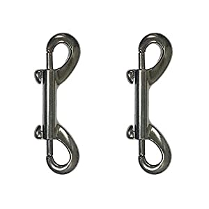 Shuxy Snap Hooks Double Ended Bolt Snaps Trigger Snaps Clasp Buckle Trigger Clip Best Spring Pet Buckle Key Chain for Linking Dog Leash Collar Handmade Crafts Project, Plating and Oil Seal, 2PCS Black