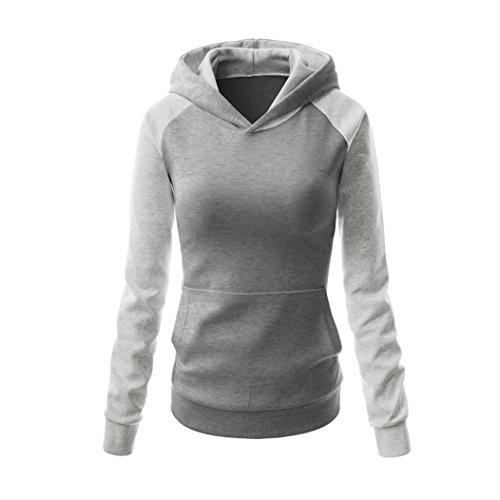 MTTROLI - Sudadera con capucha - para mujer Light Grey+Grey