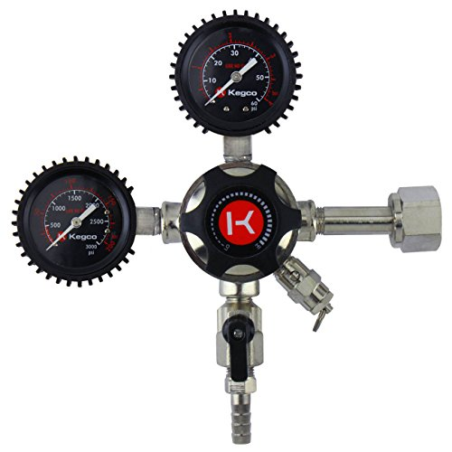 - Kegco LHU52 Elite Series Dual Gauge CO2 Draft Beer Regulator