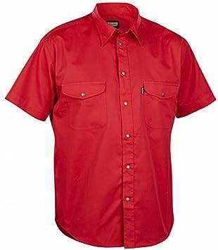 Blakläder 324011905600l camisa perfil corto talla L rojo: Amazon.es: Bricolaje y herramientas