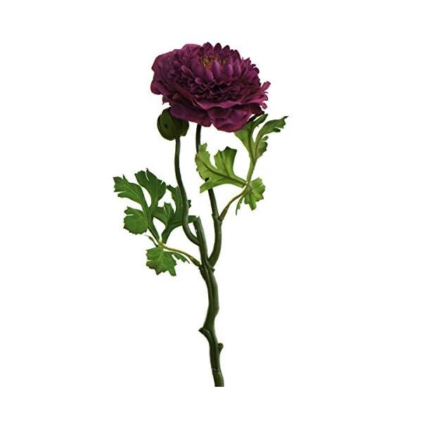 Lily Garden 6 Stems Silk Ranunculus Artificial Flowers (Purple)