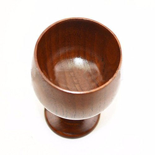 Tacoli- 200ml Natural Solid Wood Cup Classic Wooden Wine Cup Vintage Goblet Chalice Hand-Made Wood Drinking Dining Cup Drinkware Gift by Tacoli (Image #1)