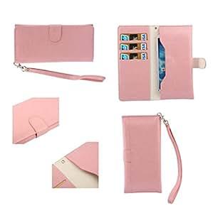DFV mobile - Funda piel sintetica premium con tarjetero y cierre por iman para > star s9 / star one s9, color rosa