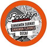 Brooklyn Beans Cinnamon Subway Decaf Coffee Pods for Keurig K Cups Coffee Maker, 40 Count