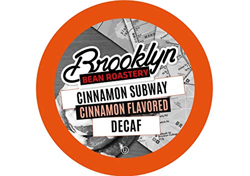 (Brooklyn Beans Cinnamon Subway Decaf Coffee Pods for Keurig K Cups Coffee Maker, 40 Count)