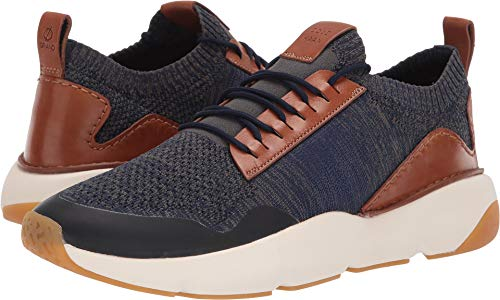(Cole Haan Men's Zerogrand All-Day Trainer with Stitchlite Marine Blue Knit/Cole Haan British Tan/Ivory/Gum 8.5 D US)