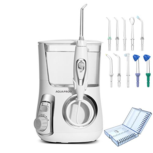 Family Dental System (Water Flossers for Teeth,Braces and Bridges, 800ml Oral Irrigator for Kids Teens Adults Family Water Pick Dental Flosser For Teeth with 10 replacement Tips (2 nasal irrigator) & Accessories Case)