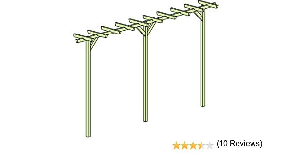 Pergola Terni Flora Doble – Dimensiones: 450 x 60 x 240 cm (B X T ...