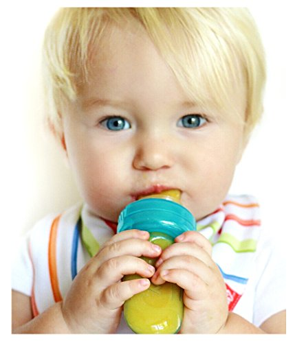 Nuby EZ Squee-Z Silicone Self Feeding Baby Food Dispenser - Colors May Vary - Food Bottle