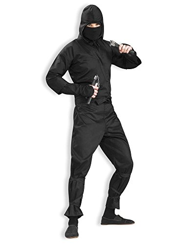 Men's Deluxe Ninja Costume, Black, One Size]()