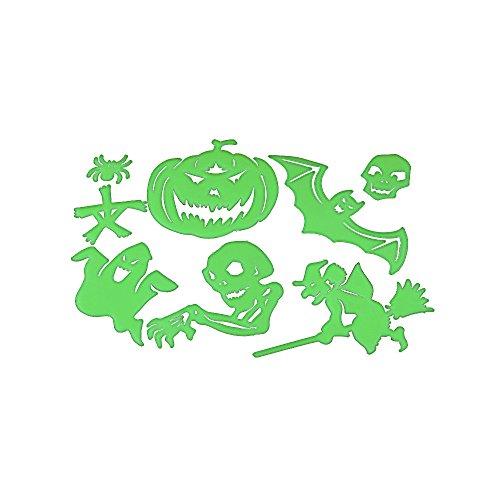Glow in the Dark Ceiling Stickers Halloween Decorations by Hello Halloween | Luminous Night Glow Stickers for Spooky Halloween Fun | Glow in the Dark Stickers | Halloween Props Plastic (Halloween Spooky Stuff)