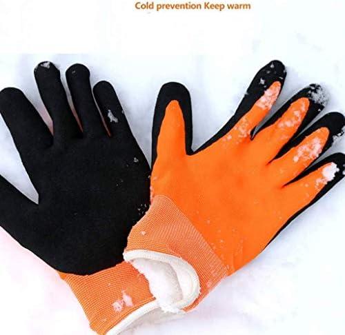 AMAZACER 手袋は大、手袋寒さと凍結防止暖かい手袋、プラスベルベット暖かいノンスリップ耐摩耗労働保険ワークグローブ、冬ノンスリップ(大、L)の作業します (Color : As Picture)