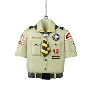Kurt adler boy scout tan shirt christmas for Cub scout ornament craft