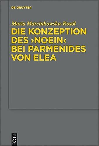 """Ebook gratuit pdf à télécharger sans inscriptionKonzeption Des """"Noein"""" Bei Parmenides Von Elea / the Idea of """"Noein"""" in Parmenides of Elea (Studia Praesocratica) (German Edition) (Littérature Française) PDF RTF 3110217597"""