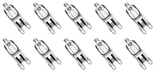 10 Pack Crystal Clear Lense Q40 G9 Cl 120v G9 Jcd 40 Watt