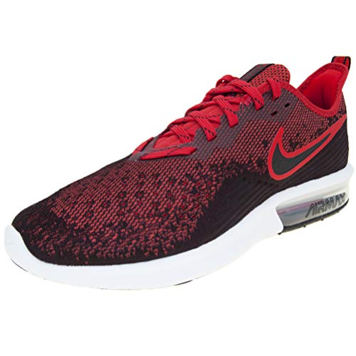 Nike Men's Air Max Sequent 4 Running Shoe (10 M US, Black/Black-University Red)