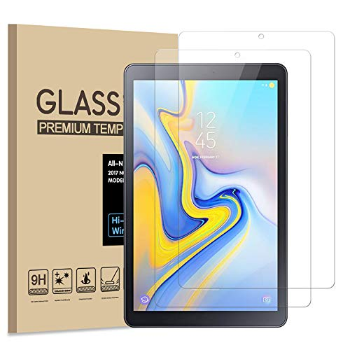 PULEN Samsung Galaxy Tab A 8.0 T387 Screen Protector 2018 (2 Packs),HD Easy Installation Anti-Fingerprints 9H Hardness Tempered Glass Film for Galaxy Tab A 8.0 2018 Tablet SM-T387 Model (8.0 Inch)
