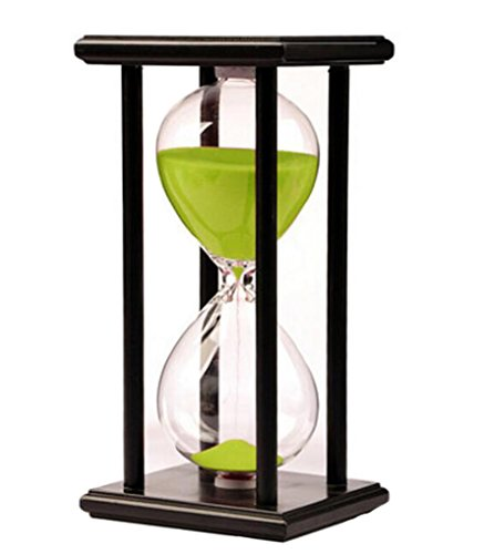 Hourglass Sandglass Sand Timer 30 minutes for Desktop Kitchen Classroom Decration Great time Clock Management tool (Green (Min Miss A Halloween)