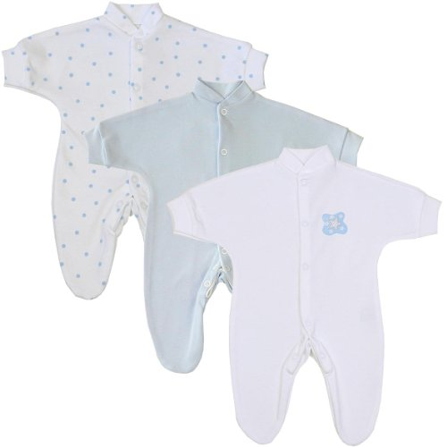 premature-early-baby-clothes-pack-of-3-sleepsuits-babygros-upto-15lb35lb55lb75lb-blue-spot