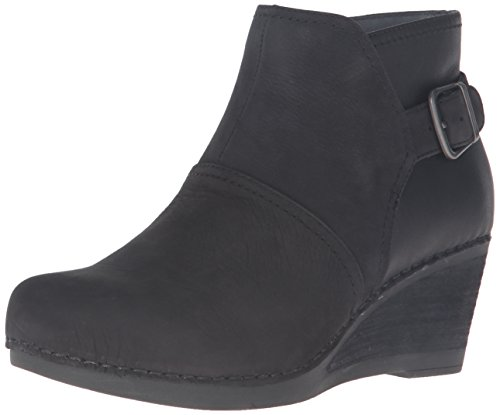 Dansko Women's Shirley Boot, Black Nubuck, 39 EU/8.5-9 M (Nubuck Leather Boots)