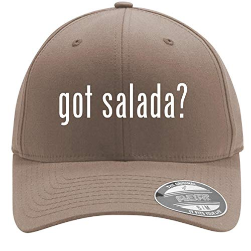 got Salada? - Adult Men's Flexfit Baseball Hat Cap, Khaki, Small/Medium (Salada Baseball Coins)