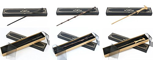 Cultured Customs Magical Wand Replicas: Harry + Albus + Dark Lord - Cosplay Prop Set + Bonus Collectible Trading Card ()