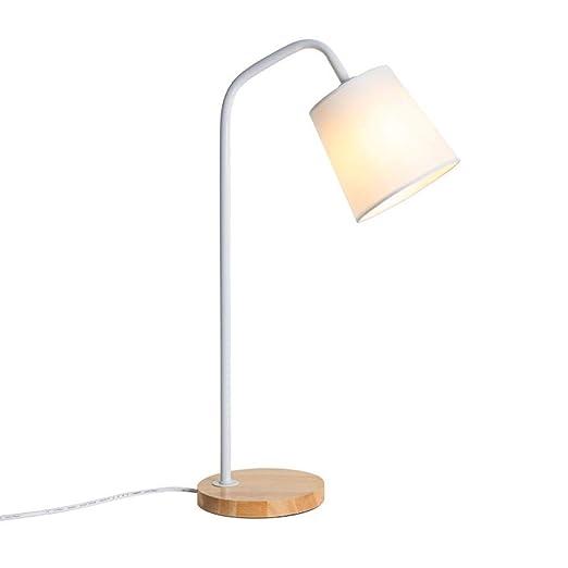 Lampara de mesa Mesita de noche Lámpara de mesa de madera maciza ...