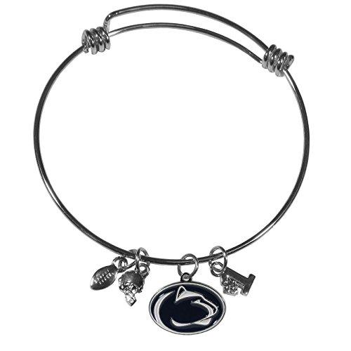 Siskiyou NCAA Penn State Nittany Lions Charm Bangle Bracelet