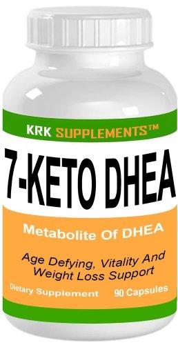 COMPLEMENT 7-Keto DHEA 100mg déhydroépiandrostérone Acétate 90 Capsules KRK