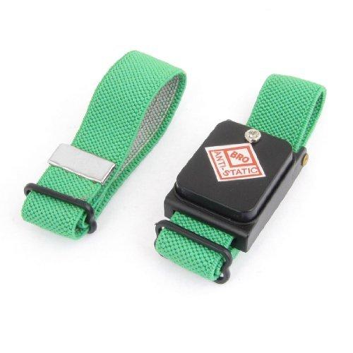 eDealMax Verde sin hilos sin cuerda estática Anti pulsera antiestática Correa Para la muñeca