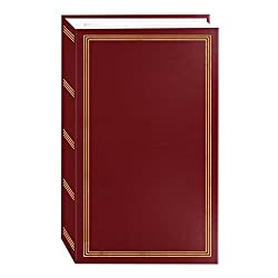"3-ring Pocket Burgundy Album For 504 Photos - 4""x6"""