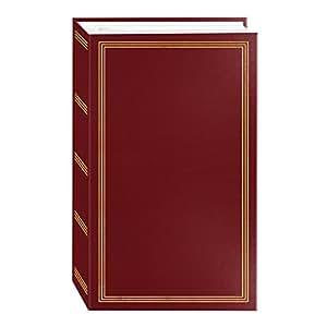 "3-ring pocket BURGUNDY album for 504 photos - 4""X6"""
