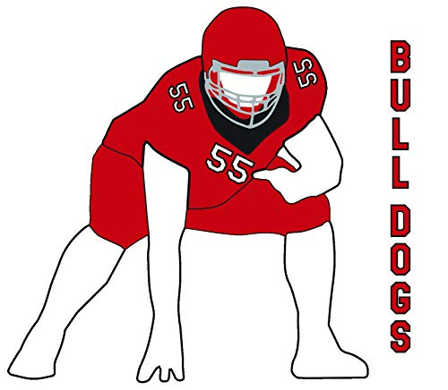 SAS Football Lineman Boy Male Vinyl Window Decal Sticker Choose Number Choose Your Text (Red) (Best Pee Wee Football Defense)