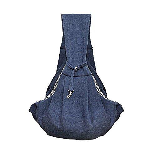 HITOP Dog Cat Pet Carrier Slings Outdoor Reversible Shoulder Bag- 5 colors (black)