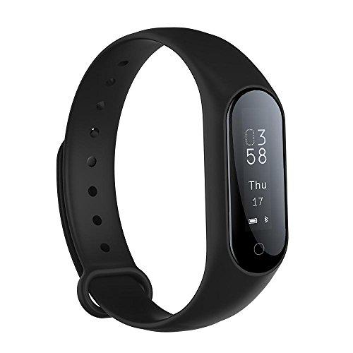 Bluetooth smartwatch 0.87 ''OLED reloj Inteligente de La presin Arterial/fsica Pulsmetro pulsera Android IOS banda inteligente pulsera (Blue/China)