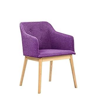 SalesFever® Armlehnstuhl Ando Lila Violett, Esszimmer Stuhl Mit Stoffbezug  Modern Gepolstert,