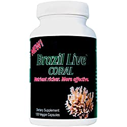 Best Coral Calcium Supplement - Live Harvested & Cold Processed Coral Calcium (120 Veggie Capsules) - From the Beaches of Brazil with Magnesium & Vitamin D3 - 40-Day Supply - Environmentally Safe