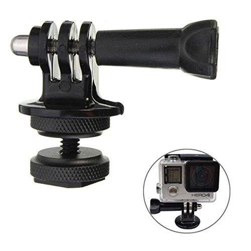 1/4 Inch Hot Shoe Adaptor With Tripod Mount Screw For GoPro Hero 2 3 3 Plus Xiaomi Yi SJ4000 SJ5000 SJcam DSLR Camera