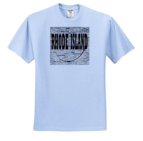 RinaPiro - US States - Rhode Island. State Capital Is Providence. - T-Shirts - Toddler Light-Blue-T-Shirt (3T) (TS_268718_64) (Providence Four Light)