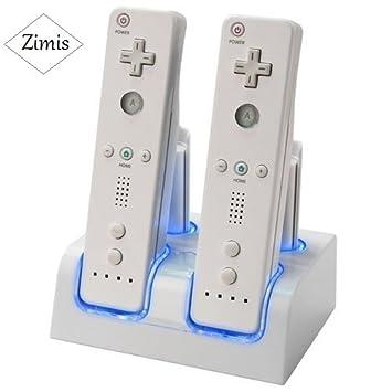 Wii Remote Control + 4 Batería recargable cargador doble nuevo