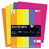(3 Pack Value Bundle) WAU21289 Astrobrights Colored Paper, 24lb, 8-1/2 x 11, Assorted, 500 Sheets/Ream